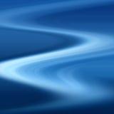 Trajeto azul do enrolamento Fotografia de Stock