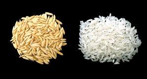 Trajeto cliping de w do arroz isolado foto de stock