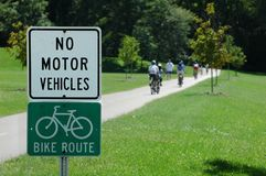 Trajeto da bicicleta Imagem de Stock Royalty Free