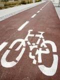 Trajeto da bicicleta Imagens de Stock