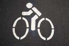 Trajeto da bicicleta Imagem de Stock