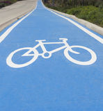 Trajeto da bicicleta Fotografia de Stock