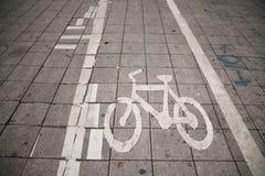 Trajeto da bicicleta fotos de stock royalty free