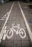 Trajeto da bicicleta foto de stock royalty free