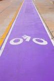 Trajeto da bicicleta tirado Fotos de Stock Royalty Free