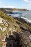 Trajeto da costa do Gales do Sul Fotos de Stock Royalty Free