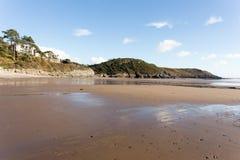 Trajeto da costa do Gales do Sul Imagem de Stock