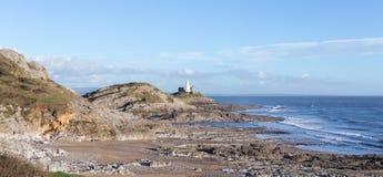 Trajeto da costa do Gales do Sul Fotos de Stock