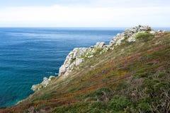 Trajeto da costa entre a cabeça de Zennor e de bacamarte Imagem de Stock