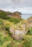 Trajeto da costa entre a cabeça de Zennor e de bacamarte Foto de Stock Royalty Free