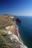 Trajeto da costa sul da porta de Durdle em Dorset Fotos de Stock Royalty Free