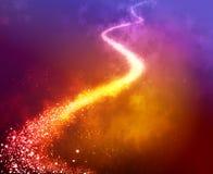 Trajeto da estrela do Natal Arte do inclinação Ateie fogo à laranja e ao fundo ajustado amarelo para imprimir e Web imagens de stock