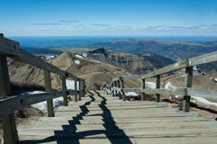 Trajeto da fuga dos vulcões das montanhas Imagens de Stock Royalty Free
