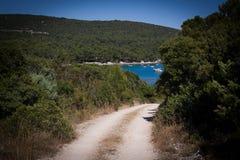 Trajeto da ilha ao mar Imagem de Stock