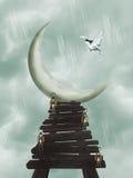 Trajeto da lua Ilustração Stock