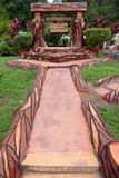 Trajeto da natureza com jardim Imagens de Stock Royalty Free