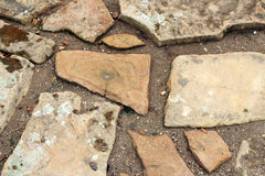 Trajeto da pedra de pavimentação Imagem de Stock
