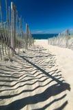 Trajeto da praia foto de stock
