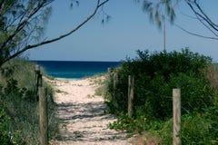 Trajeto da praia fotografia de stock royalty free