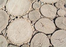Trajeto de barras de madeira Fotografia de Stock Royalty Free
