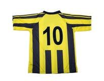 Trajeto de grampeamento da camisa do futebol Imagens de Stock