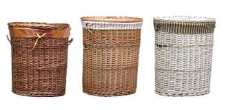 Trajeto de grampeamento das cestas de lavanderia imagem de stock