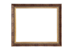 Trajeto de grampeamento isolado vazio do frame de retrato imagem de stock royalty free