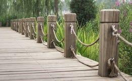 Trajeto de madeira Imagem de Stock