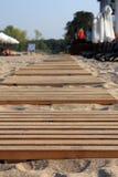 Trajeto de madeira. Imagem de Stock