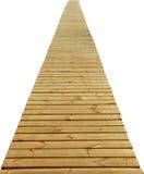 Trajeto de madeira direto isolado foto de stock royalty free