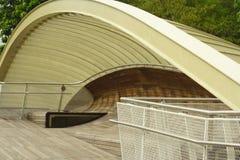 Trajeto de madeira na ponte Fotografia de Stock Royalty Free