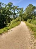Trajeto de passeio em Garret Mountain Reservation, parque da floresta (anteriormente Paterson ocidental), New-jersey Fotografia de Stock