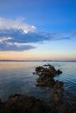 Trajeto de pedra ao mar Imagem de Stock Royalty Free