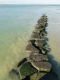 Trajeto de pedra ao oceano Foto de Stock Royalty Free