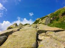 Trajeto de pedra, Chopok, baixo Tatras, Eslováquia Fotografia de Stock