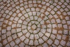 Trajeto de pedra circular em Highland Park Rochester, New York fotografia de stock