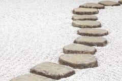 Trajeto de pedra do zen Imagem de Stock