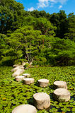 Trajeto de pedra do zen Fotografia de Stock Royalty Free
