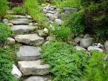 Trajeto de pedra em Westport, Massachusetts Imagens de Stock Royalty Free