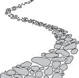 Trajeto de pedra isolado Imagem de Stock