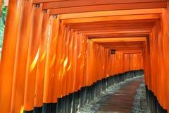 Trajeto de Torii no santuário de Fushimi Inari Taisha imagens de stock