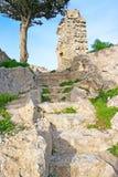 Trajeto do castelo de Kantara Fotografia de Stock Royalty Free