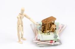 Trajeto do rendimento (dinheiro). Imagem de Stock