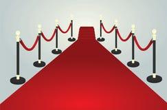 Trajeto do tapete vermelho ilustração royalty free