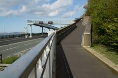 Trajeto e ponte. Fotografia de Stock