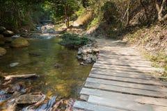 Trajeto e quadro indicador no parque natural da cachoeira de Chaeson imagens de stock royalty free