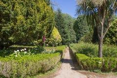 Trajeto em um jardim botânico verão portugal Foto de Stock