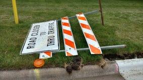 Trajeto fechado estrada do grampo do sinal Fotografia de Stock Royalty Free