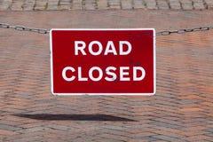 Trajeto fechado estrada do grampo do sinal Foto de Stock Royalty Free