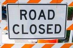 Trajeto fechado estrada do grampo do sinal Imagens de Stock Royalty Free